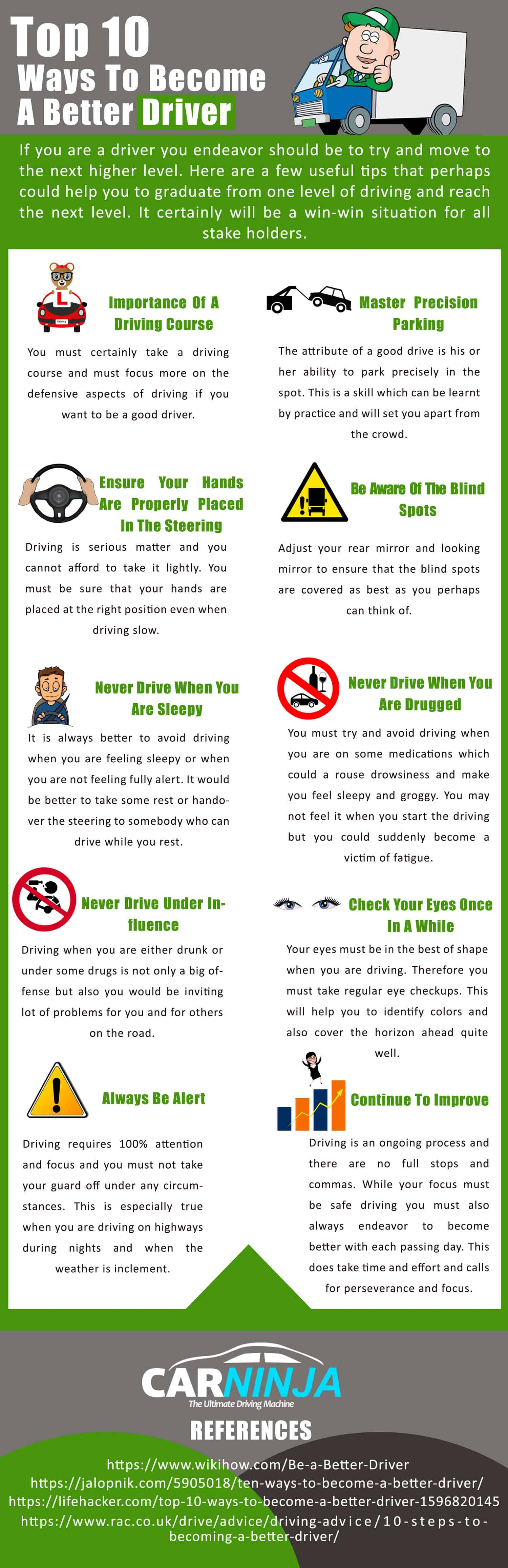 Top 10 Ways To Become A Better Driver